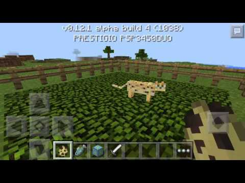How to tame wolf and ocelot in mcpe