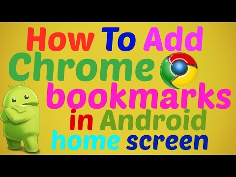 How To Add Chrome bookmarks to the Android home screen in hindi / Urdu 2016