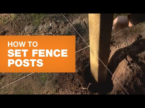 How To Set Fence Posts
