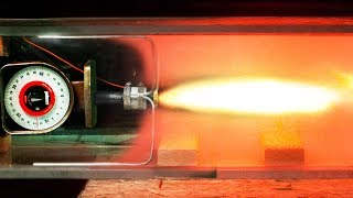 Solid Rocket Fired in a Vacuum Chamber in Slow Motion - Newton
