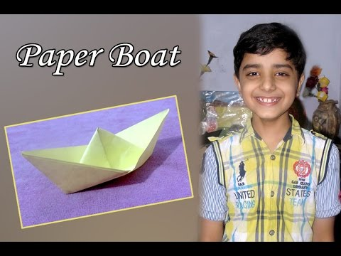 DIY : Art & craft - Easy And Simple Paper Boat Tutorial (in Hindi) by Sahil Sachdeva.