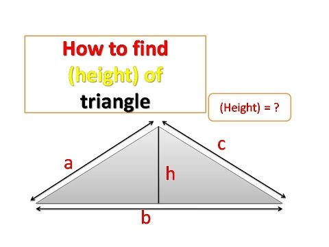 How to find the (height) of a triangle