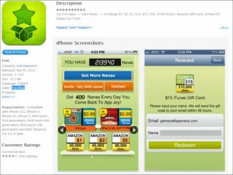 Free iTunes and Amazon Gift Cards ( Appjoy )  :))))))
