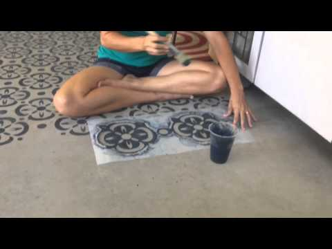 How to stencil concrete floors