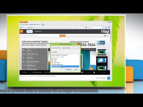How to clear recent history in Mozilla® Firefox on a Windows® 8 PC