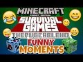 ✔️FUNNY MOMENTS [LBSG SURVIVAL GAMES] // MY BROTHER ThePugCableHQ (MCPE)