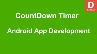 Multiple Choice Quiz App with SQLite Integration Part 7 - COUNTDOWN