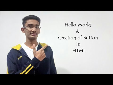 How to Create Hello world and button in HTML simple method by tech windroid