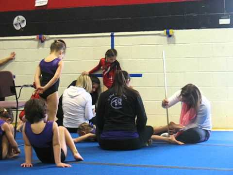 Gymnastic competition 2013  Measuring legs