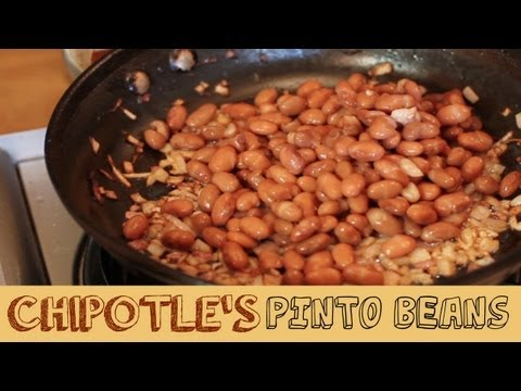 Chipotle's Pinto Beans - Smokey Bacon and Fried Onions