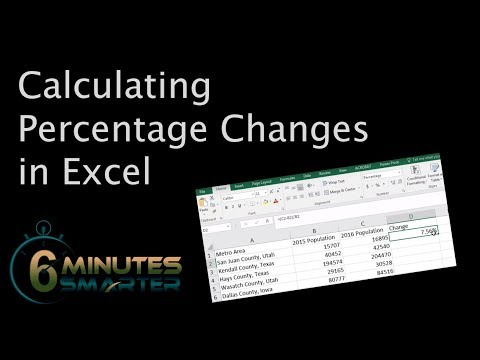 Calculating Percentage Changes in Excel