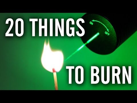 20 Things to Burn with a 1 Watt Laser Pointer