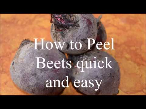 How to Peel Beets quick and easily