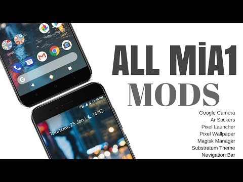 MiA1 All Mods |  Google Camera | AR Stickers | Magisk | Pixel Navbar and More