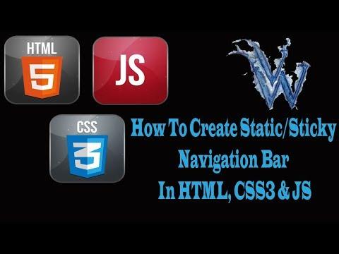 How To Create Static Navigation Bar, Sticky Navbar On Scroll, HTML5 & CSS3, Amazing Techno Tutorials