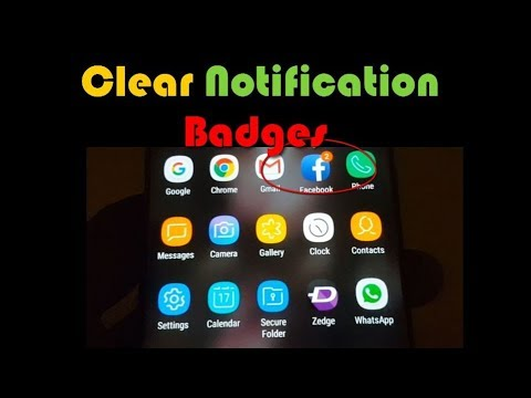 Clear Notification Badges on Galaxy S8,S8 Plus and Note 8
