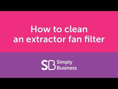 How to clean an extractor fan filter - landlord kitchen cleaning tips