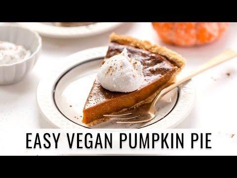 PERFECT VEGAN PUMPKIN PIE | with a grain-free almond flour crust