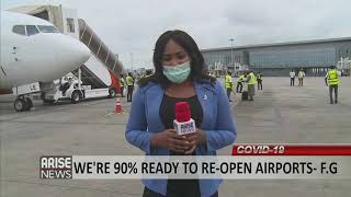 """""""We're 90% ready to re-open airports"""" -FG"""