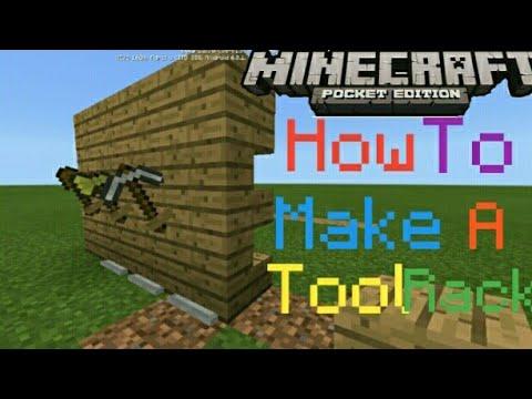 How To Make Tools Rack | MCPE | Tutorial |