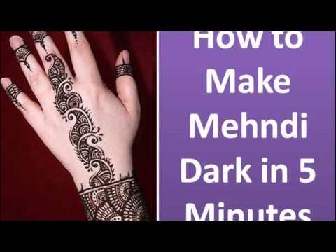 How to Darken Mehndi Color on Your Hands