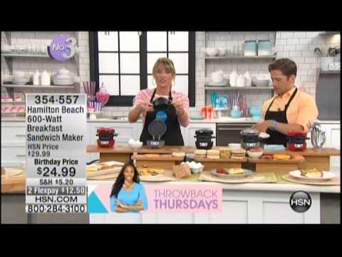 Kelly Diedring Harris presents the Hamilton Beach Breakfast Sandwich Maker on HSN; 7.3.14