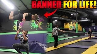 BREAKING ALL THE RULES AT SKYZONE (BANNED)