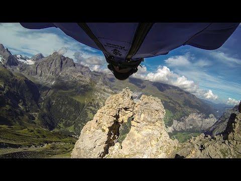 GoPro: Wingsuit Flight Through 2 Meter Cave - Uli Emanuele