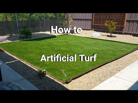 Artificial Turf Installation - Save Money Do It Yourself!