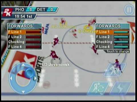 2K Sports NHL 2K11 iPhone/iPod Gameplay Video - The Game Trail