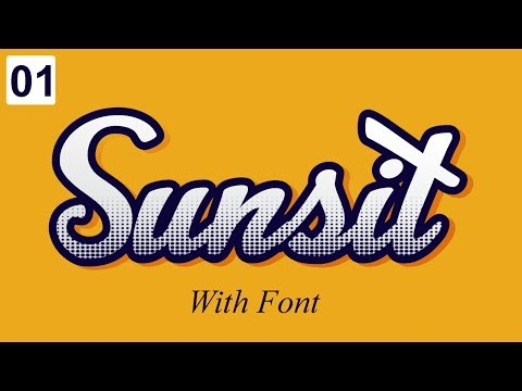 CorelDraw X7 Tutorial - How to Create Text Effect in Coreldraw - With Font Best tips by as graphics