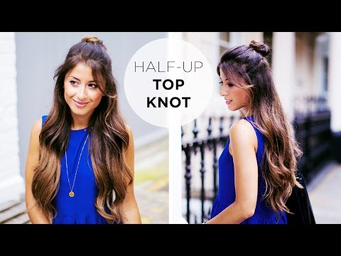 Half Up Top Knot Hairstyle Tutorial