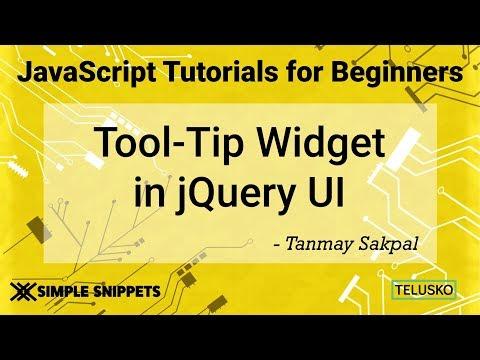 Tooltip Widget Control in JQuery UI