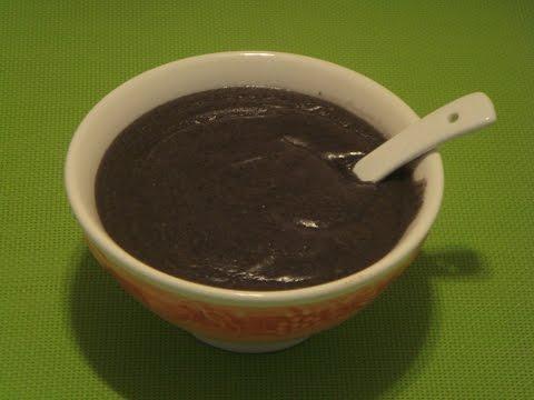 Black Sesame Dessert Recipe: Black Sesame Soup