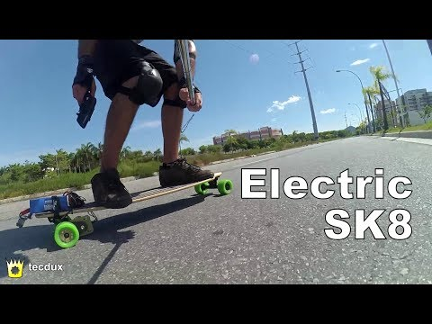 Homemade Electric Skate, faster than a BOOSTED BOARD
