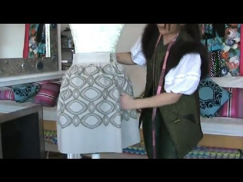 HOW TO SEW LOUIS VUITTON INSPIRED SKIRT USING 2 IKEA BLINDS