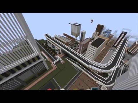 Modern Japanese City in Minecraft