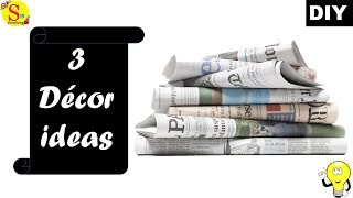 Recycled Newspaper Craft Ideas For Home Videos 9tube Tv