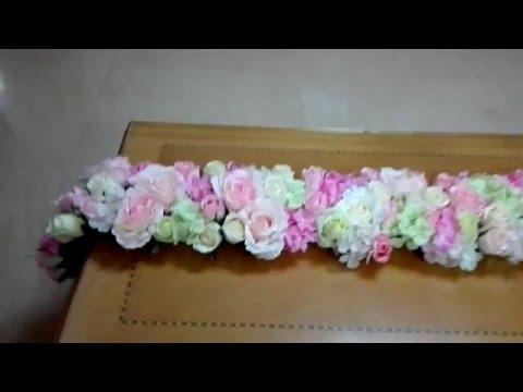 DIY Floral table runner (tutorial)