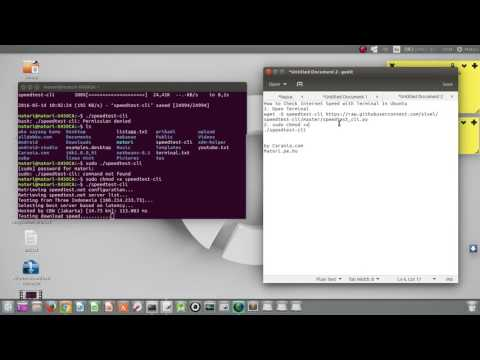 How to Check Internet Speed with Terminal In Ubuntu