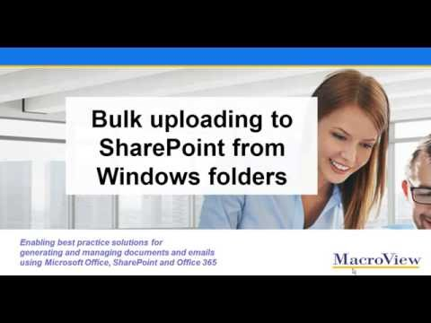 Bulk Uploading Documents to SharePoint from Windows