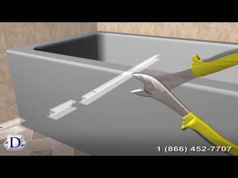 Bathroom Glass Door Rubber Seal Installation Guide