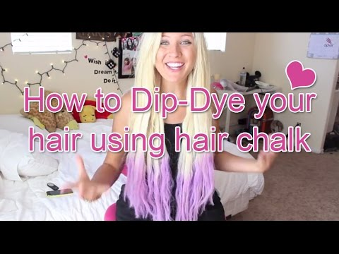 How to Dip-Dye your hair using hair chalk -Cliphair