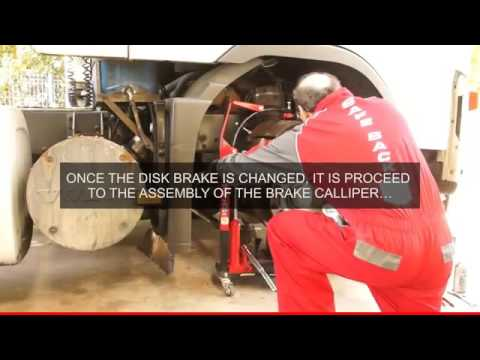BT1-Brake Truck I: Tool to change disc brake of trucks, trailers, buses. Approved by C.E.