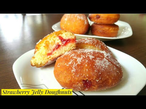 Strawberry Jelly Doughnuts by Mind Blowing Cooking