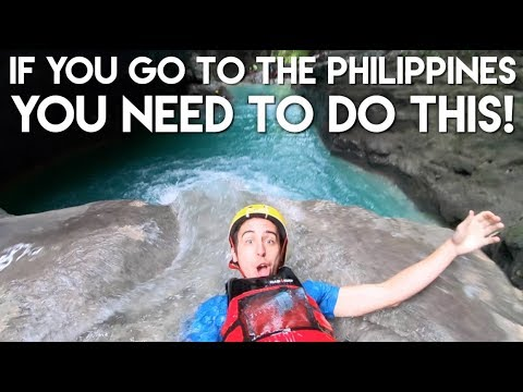 My FAVORITE Adventure in the Philippines - Canyoneering to Kawasan Falls - Travel Vlog Ep 11