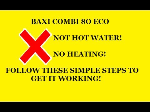 Baxi Combi 80 Eco no Hot Water Heating