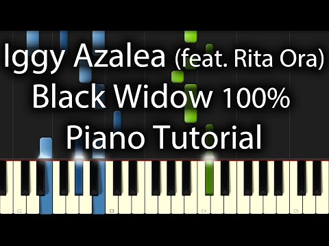 Iggy Azalea feat Rita Ora -  Black Widow Tutorial (How To Play On Piano) 100%