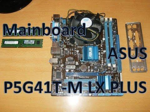 Motherboard ASUS P5G41T-M LX PLUS Micro ATX Intel Chipset G41/ICH7 Ram Memory DDR3 Windows 10
