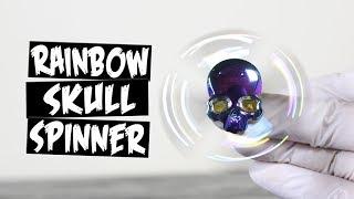 Download Rainbow Metal Skull Hand Spinner Fidget Toy Video
